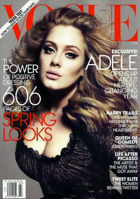 Adele cover of Vogue