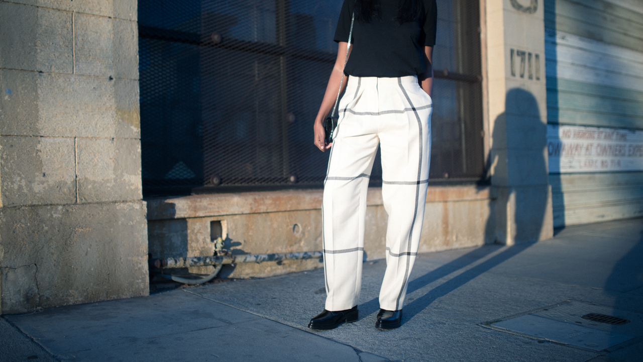Acne Studios top, 3.1 Phillip Lim pants, Acne Studios brogues